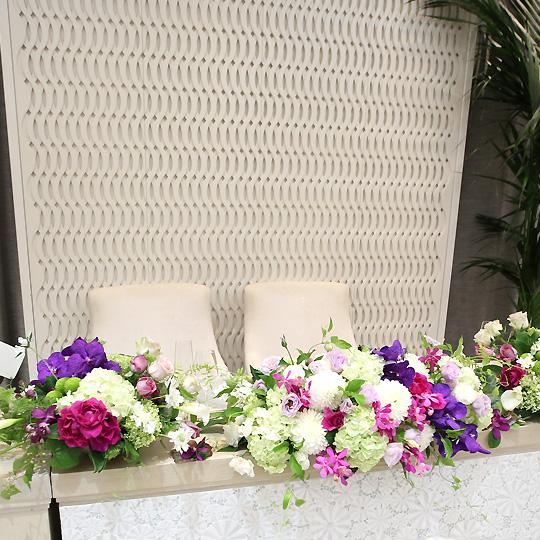 ブライダル 会場装花