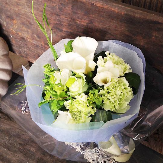 花束,ホワイト