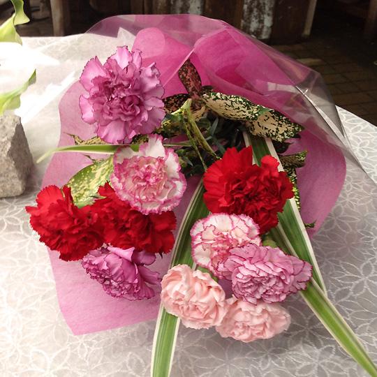 花束,カーネーション,母の日