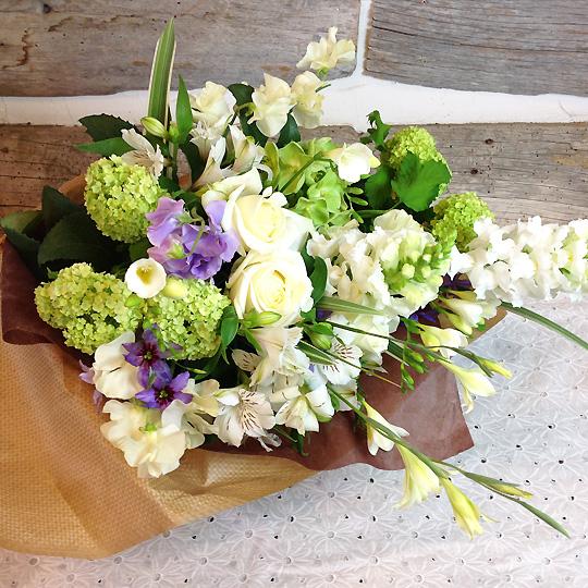 花束,誕生日,ホワイト