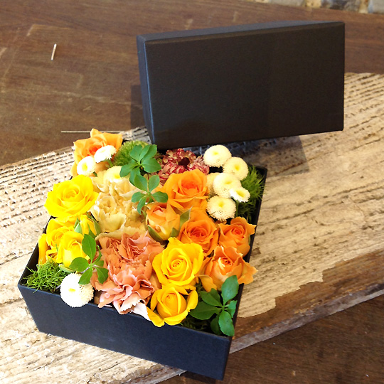 敬老の日,生花,ボックスフラワー