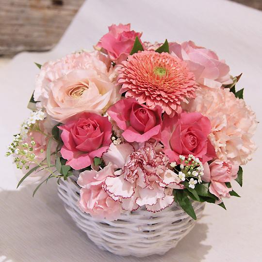 生花,アレンジメント,ピンク