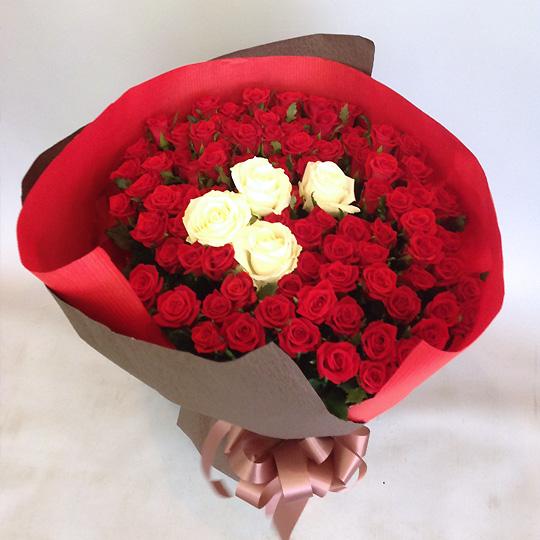 バラ,花束,100本